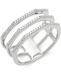 Ron Hami - Diamond & 14k White Gold Three-row Ring - Lyst