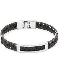 Alor - Stainless Steel Braided Bangle Bracelet - Lyst