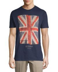 Ben Sherman - Painted Union Cotton Tee - Lyst