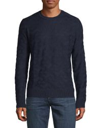 Saks Fifth Avenue - Textured Crewneck Sweater - Lyst