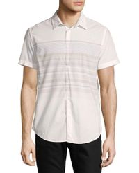 Calvin Klein Jeans - Stripe Cotton Button-down Shirt - Lyst