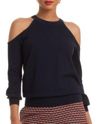 Trina Turk - Solid Cold Shoulder Sweater - Lyst