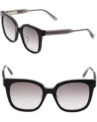 Bottega Veneta - 52mm Rectangle Sunglasses - Lyst