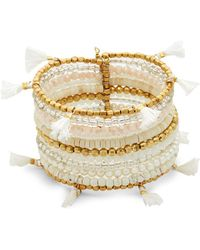 Panacea - Beaded Cuff Bracelet - Lyst