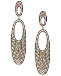 Bavna - Diamond And Sterling Silver Drop Earrings - Lyst