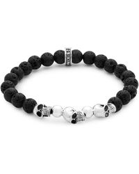 King Baby Studio - Sterling Silver Skull Beaded Bracelet - Lyst
