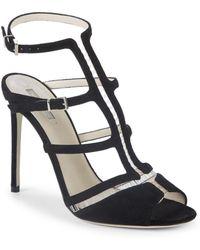 Giorgio Armani - Leather Caged Sandals - Lyst
