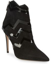 Aperlai - Patent Zigzag Suede Boots - Lyst