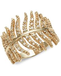 Mizuki | 14k Gold & Diamonds Feather Wrap | Lyst