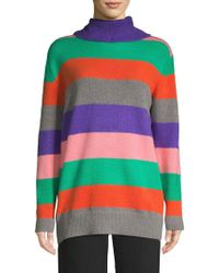 Lea & Viola - Striped Turtleneck Sweater - Lyst