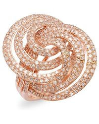 Effy - 14k Rose Gold & Diamond Statement Ring - Lyst