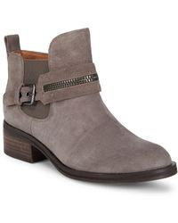 Gentle Souls - Round Toe Leather Booties - Lyst