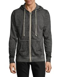 Threads For Thought - Burnout Hooded Zip-up - Lyst