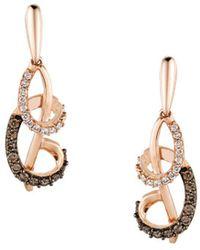 Le Vian - Chocolatier Vanilla Diamonds, Chocolate Diamonds And 14k Strawberry Gold Earrings - Lyst