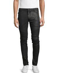 Balmain Textured Skinny-fit Jeans