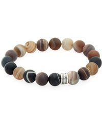 Link Up - Agate Beaded Bracelet - Lyst