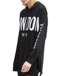 French Connection - Graphic Jersey Hooded Sweatshirt - Lyst