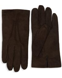 Saks Fifth Avenue - Classic Suede Gloves - Lyst