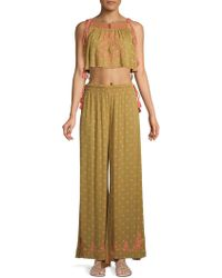 Free People - Hearts Rising 2-piece Embroideredcropped Top & Pants Set - Lyst