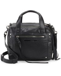 McQ - Leather Double Zip Top Handle Bag - Lyst