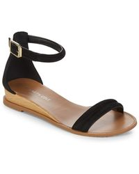 Kenneth Cole - Jocelyn Suede Wedge Sandals - Lyst