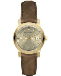 Burberry - Goldtone Quartz Stainless Steel Watch - Lyst