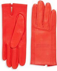 Hermès - Red Lambskin Gloves - Lyst