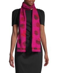 Boutique Moschino - All Of Heart Print Wool Scarf - Lyst