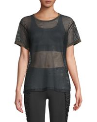 Koral - Perforated Short-sleeve Tee - Lyst