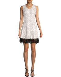 Donna Ricco - Floral Fit-&-flare Dress - Lyst