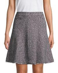 Ellen Tracy - Fringe-trimmed A-line Skirt - Lyst