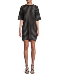 Lea & Viola - Sparkling Striped T-shirt Dress - Lyst