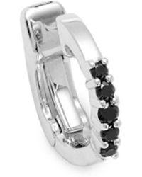 Saks Fifth Avenue - Black Diamond And 14k White Gold Earcuff - Lyst
