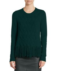 Akris - Fringed-knit Pullover - Lyst