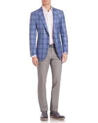 Saks Fifth Avenue - Samuelsohn Classic-fit Plaid Sportcoat - Lyst