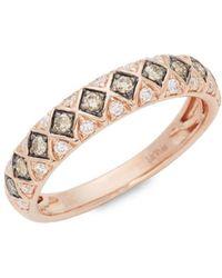 Le Vian - Chocolatier® 14k Strawberry Gold® , Chocolate Diamonds® And Vanilla Diamonds® Ring - Lyst
