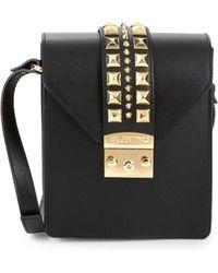 20f38c704885 Valentino By Mario Valentino - Bridgette Rockstud Leather Crossbody Bag -  Lyst