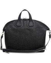bdaf815edaef Lyst - Givenchy Nightingale Medium Stud-strap Satchel Bag in Black ...