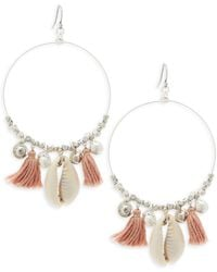 Chan Luu - Sterling Silver Tassel Hoop Earrings - Lyst
