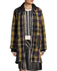 Public School - Elanor Wool Plaid Two-fer Coat - Lyst
