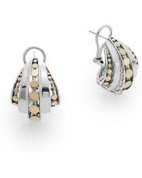 John Hardy - Dot Buddha Belly Sterling Silver Earrings - Lyst