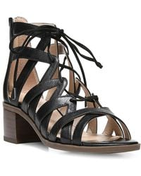 Franco Sarto - Ocean Leather Strappy Sandals - Lyst