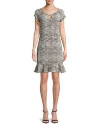 Max Studio - Cap-sleeve Tweed Dress - Lyst