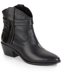 Joie - Keaton Fringed Leather Booties - Lyst