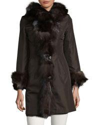 La Fiorentina - Reversible Fox And Rabbit Fur Coat - Lyst