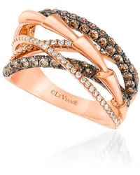Le Vian - Chocolatier® 14k Strawberry Gold® And Chocolate & Vanilla Diamonds® Ring - Lyst