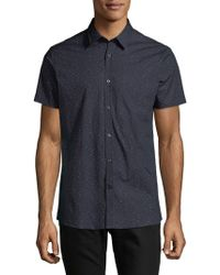 J.Lindeberg - Allover Polka Dot Printed Button-down Shirt - Lyst
