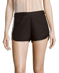 StyleStalker - Textured Zipped Shorts - Lyst