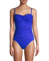 Gottex - Bandeau Shirred One-piece Swimsuit - Lyst