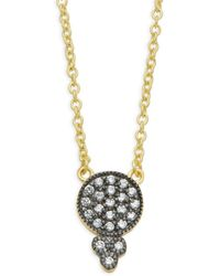 Freida Rothman - Black Rhodium & Sterling Silver Bindi Pendant Necklace - Lyst